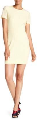 Diane von Furstenberg Short Sleeve Tailored Seersucker Dress