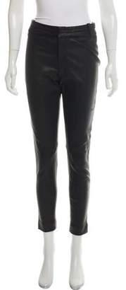 IRO Leather Mid-Rise Skinny Pants