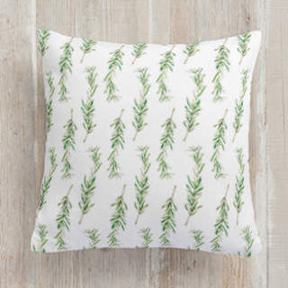 Simple Sprig Square Pillow