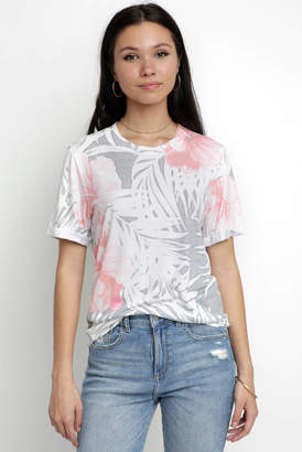 Sol Angeles Copa Floral Crew Neck Tee Shirt