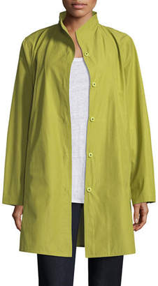 Eileen Fisher Weather-Resistant Snap-Front Coat, Petite