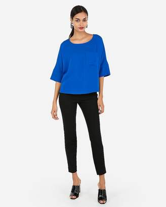 Express Silky Pocket Cocoon Blouse