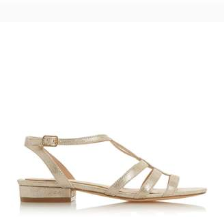 d6b6fbc65 Dorothy Perkins Womens *Head Over Heels By Dune Gold 'Juney' Flat Sandals
