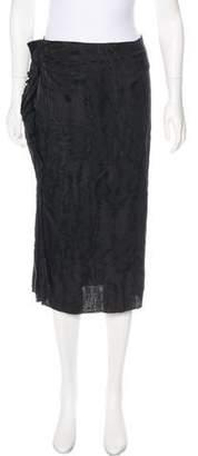 Isabel Marant Ruffle-Accented Midi Skirt w/ Tags