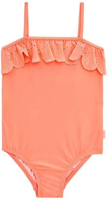 Seafolly Girls Toddler Sweet Summer Frill Tube One Piece