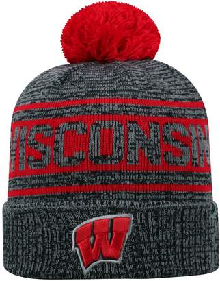 Top of the World Adult Wisconsin Badgers Sock it 2 Me Beanie