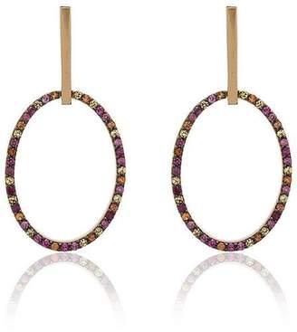 Ileana Makri 18k yellow gold diamond hoop earrings
