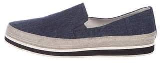 Prada Sport Pointed-Toe Slip-On Sneakers