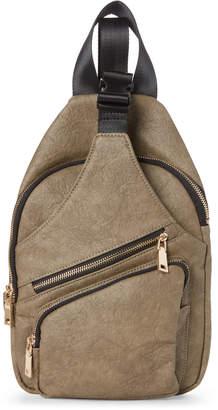 Urban Expressions Olive Clark Vegan Sling Backpack