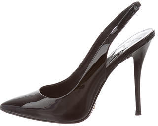 B Brian Atwood Patent Leather Slingback Pumps $100 thestylecure.com