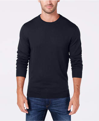 Club Room Men's Textured Merino Wool Crew Neck Sweater, Created for Macy's