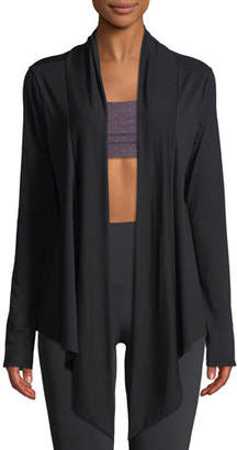 Onzie Draped Open-Front Long-Sleeve Cardigan
