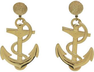 One Kings Lane Vintage 1970s Anchor Earrings - Thanks for the Memories