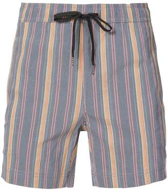 Onia Charles 5 striped swim trunks