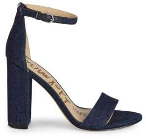 3ce50e9950a6 Sam Edelman Blue Block Heel Women s Sandals - ShopStyle