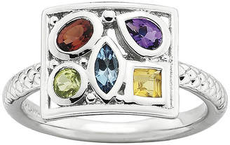JCPenney FINE JEWELRY Personally Stackable Sterling Silver Multi-Gemstone Ring
