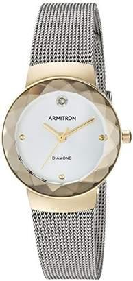 Armitron Women's 75/5567SVTT Diamond-Accented Silver-Tone Mesh Bracelet Watch