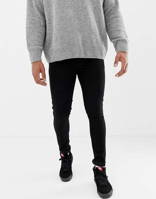 ONLY & SONS super skinny black jeans