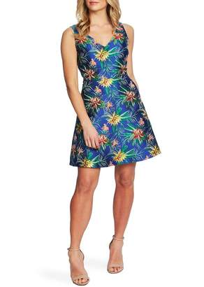 Cynthia Steffe CeCe by Tropical Jacquard Fit & Flare Dress