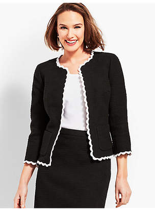 Talbots Tweed Scallop Jacket