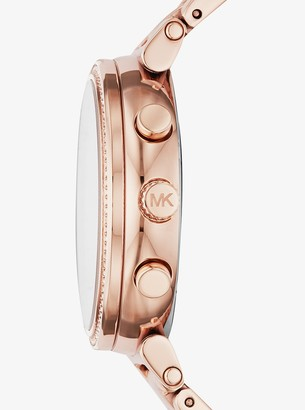 870d713539f7 Michael Kors Women s Rose-tone Stainless Steel Chronograph Watch ...