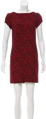 Saint Laurent Heart Print Mini Dress