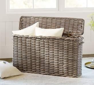 Pottery Barn Aubrey Woven Oversized Lidded Basket