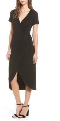 Women's One Clothing Knit Wrap Midi Dress $35 thestylecure.com