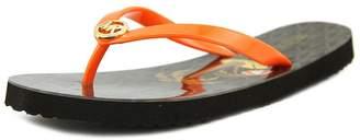 Michael Kors Womens Flip Flop Shiny Open, Multi-color, Mimosa Brown, Size 8.0
