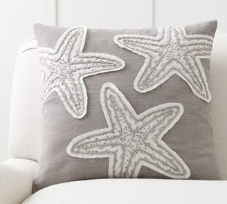 Pottery Barn Starfish Embellished Pillow Cover