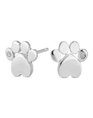 Jon Richard Simply Silver By Simply Silver Paw Print Stud Earring