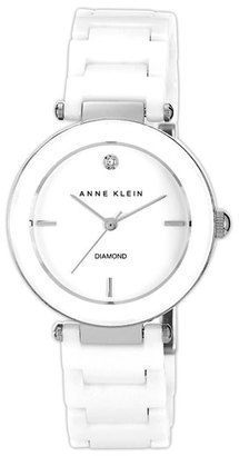 Women's Anne Klein Round Ceramic Bracelet Watch, 33Mm $110 thestylecure.com
