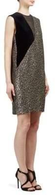 Lanvin Metallic Leopard-Print Dress