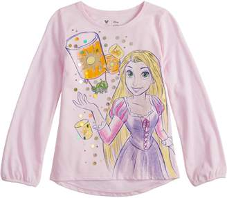 Princess Girls Disneyjumping Beans Disney's Rapunzel Girls 4-12 Glittery Graphic Tee by Jumping Beans
