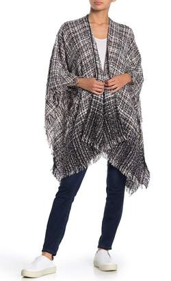 Angie Ombre Tweed Sweater Wrap