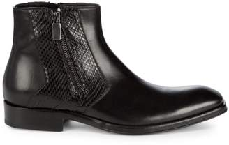 Jo Ghost Leather Zip Boots