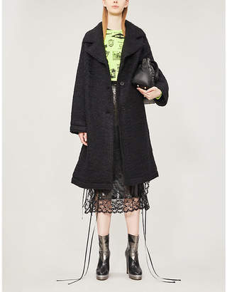 McQ Notch-lapel wool-blend coat