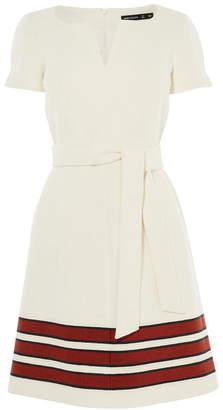 Karen Millen Striped Tweed A-Line Dress
