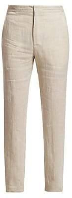 Ermenegildo Zegna Men's Linen Drawstring Trousers