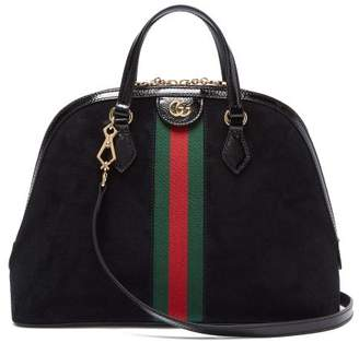 Gucci Ophidia Suede Tote Bag - Womens - Black Multi