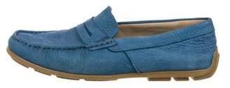 Dolce & Gabbana Nubuck Square-Toe Loafers