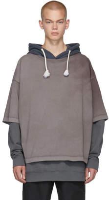 Maison Margiela Grey Overdyed Garment Hoodie