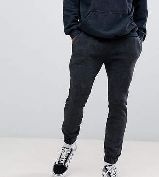 Reclaimed Vintage inspired overdye jogger in washed black