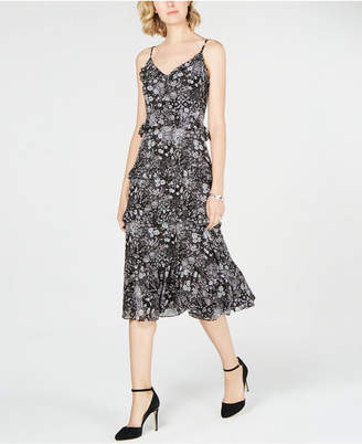 Michael Kors Ruffled Midi Slip Dress