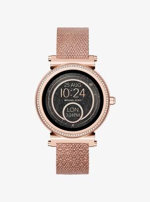 Michael Kors Sofie Rose Gold-Tone Smartwatch Strap