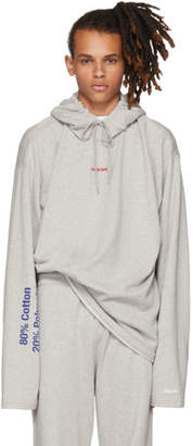 Vetements Grey French Terry Hoodie