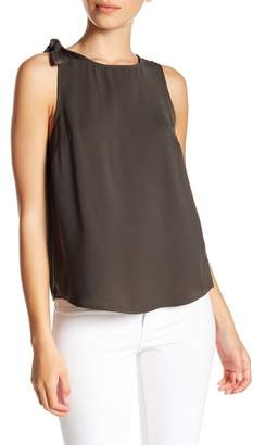 14th & Union Shoulder Tie Sleeveless Blouse (Petite Size Available)