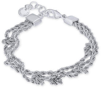 Charter Club Silver-Tone Multi-Chain Knotted Link Bracelet, Created for Macy's