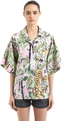 Kenzo Reversible Tiger Hawaiian Cotton Shirt