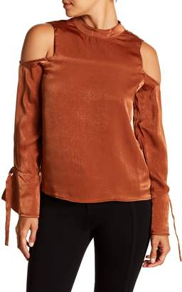 J.o.a. Cold Shoulder Long Sleeve Shirt